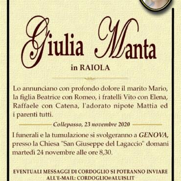 Giulia Manta – in RAIOLA – Genova