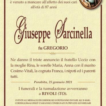 Giuseppe Sarcinella – Rivoli (TO) – Parabita
