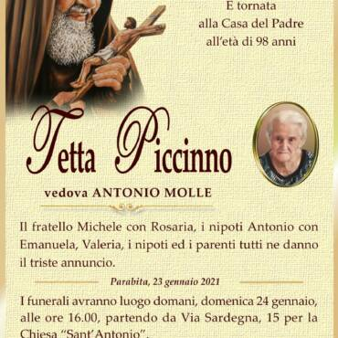 Tetta Piccinno – Antonio Molle – Parabita