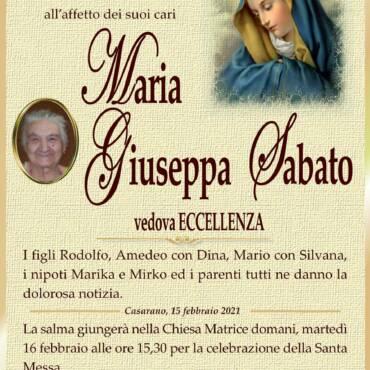 Maria Giuseppa Sabato – vedova Eccellenza – Casarano