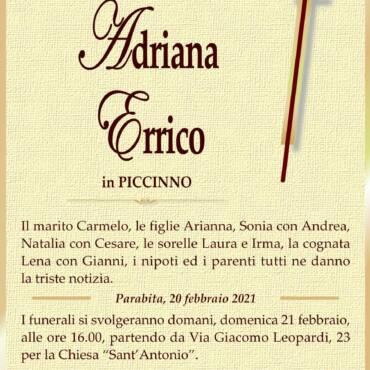 Adriana Errico – in Piccinno – Parabita