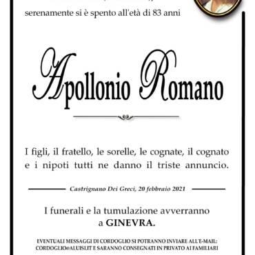 Apollonio Romano – GINEVRA (SVIZZERA)