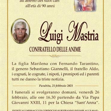 Luigi Mastria – Confratello delle Anime – Parabita