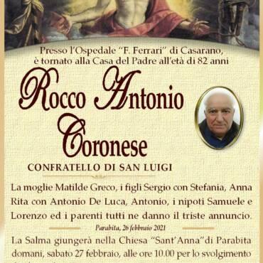 Rocco Antonio Coronese – Parabita