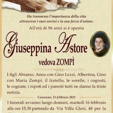 Giuseppina Astore – vedova Zompì – Casarano