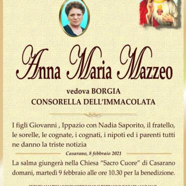 Anna Maria Mazzeo – Vedova Borgia – Casarano