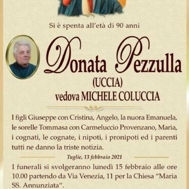 Donata Pezzulla – vedova Michele Coluccia – Tuglie
