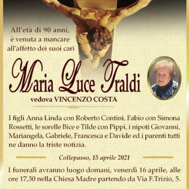 Maria Luce Traldi – vedova Vincenzo Costa – Collepasso
