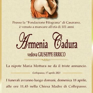 Armenia Cadura –  vedova Giuseppe Errico – Collepasso