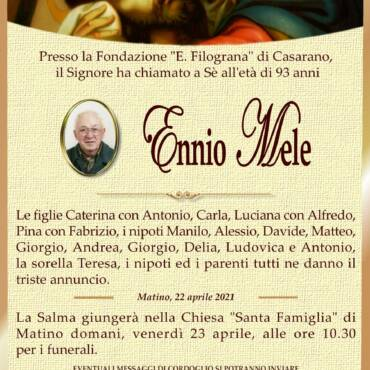 Ennio Mele – Matino