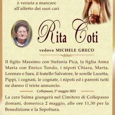 Rita Coti – vedova Michele Greco – Collepasso