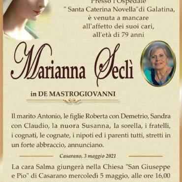 Marianna Seclì – in De Mastrogiovanni – Casarano