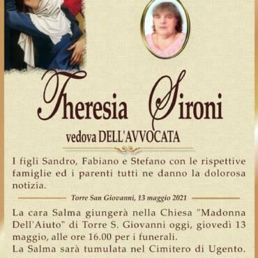 Theresia Sironi – vedova Dell'Avvocata – Torre San Giovanni