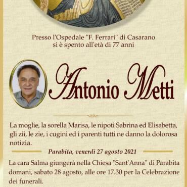 Antonio Metti – Parabita
