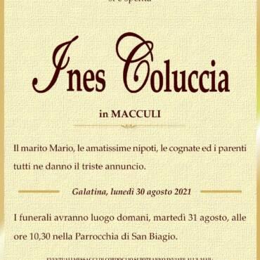 Ines Coluccia – in Macculi – Galatina