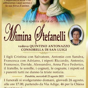 Mimina Stefanelli – vedova Quintino Antonazzo – Parabita