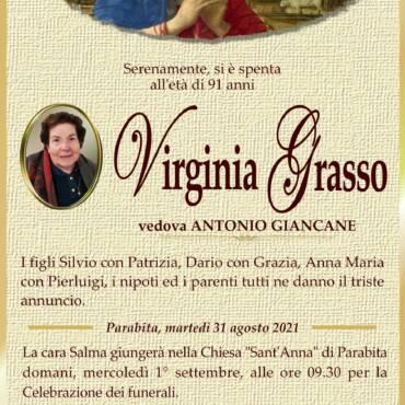 Virginia Grasso – vedova Antonio Giancane – Parabita