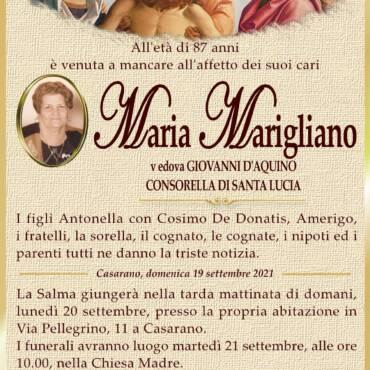 Maria Marigliano – vedova Giovanni D'Aquino – CONSORELLA DI SANTA LUCIA