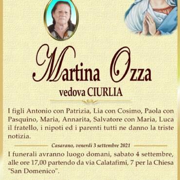 Martina Ozza – vedova Ciurlia – Casarano