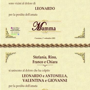 Maria Teresa Parata – vedova Giovanni Parrotto – Casarano