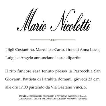 Mario Nicoletti – Parabita