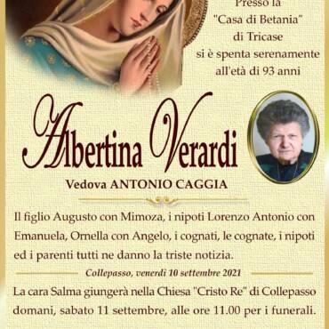 Albertina Verardi – vedova Antonio Caggia – Collepasso